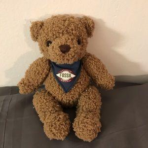 Fossil Original Authentic Gund Fuzzy Teddy Bear